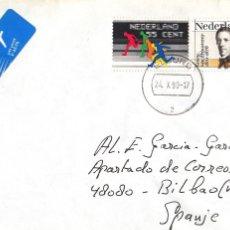 Sellos: CORREO AEREO: HOLANDA 1990. Lote 277220048