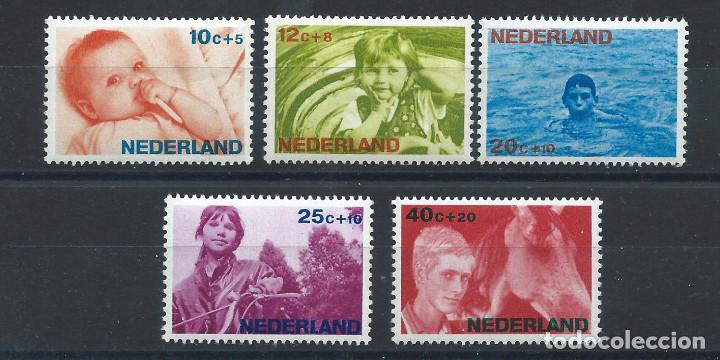 PAYS BAS N°839/43** (MNH) 1966 - ŒUVRES DE BIENFAISANCES (Sellos - Extranjero - Europa - Holanda)