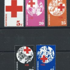 Sellos: PAYS BAS N°966/70** (MNH) 1972 - CROIX ROUGE. Lote 278867653