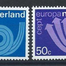 "Sellos: PAYS BAS N°982/83** (MNH) 1973 - EUROPA ""CORPS POSTAL"". Lote 287972633"