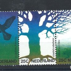 Sellos: PAYS BAS N°994/96** (MNH) 1974 - ENVIRONNEMENT ET NATURE. Lote 287974158
