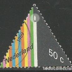 Sellos: HOLANDA - 50 CENTS 1989 - SELLO TRIANGULO - USADO - VISITA MIS OTROS ARTÍCULOS. Lote 293919463