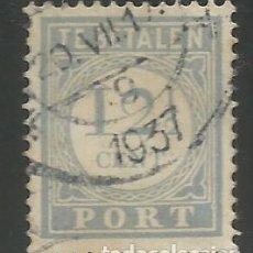 Sellos: HOLANDA / PAÍSES BAJOS - 1896 - 12, 1 / 2 CENT DEL SIGLO XIX - TE BETALEN - USADO. Lote 295819783