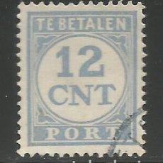 Sellos: HOLANDA / PAÍSES BAJOS - 1894 - 12 CENT DEL SIGLO XIX - TE BETALEN - USADO. Lote 295819908
