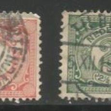 Sellos: INDIA HOLANDESA - 4 SELLOS DE 0.5, 1, 2.5 Y 10 CENT - DE 1912-1917 - USADOS. Lote 297106953