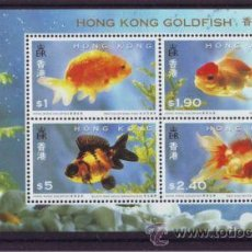 Sellos: HONG KONG HB CARACIUS O PEZ DORADO GOLDFISH 1993 NUEVO LUJO FAUNA MNH *** SC. Lote 49571147