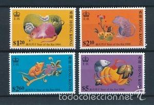 HONG KONG 1996 IVERT 782/5 *** AÑO NUEVO CHINO - AÑO DEL RATON (Sellos - Extranjero - Asia - Hong Kong)