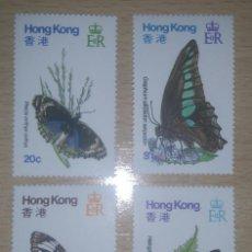 Sellos: HONG KONG 1979 MARIPOSAS FAUNA YVERT 347-350 MICHEL 353-356 SCOTT 354-357. Lote 95721391