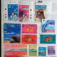 Sellos: HONG KONG, LOTE DE 52 SELLOS USADOS DIFERENTES . Lote 126500663