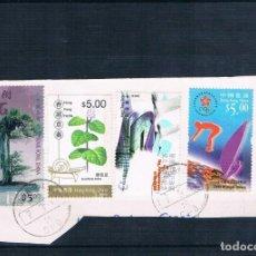 Sellos: BONITO FRAGMENTO HONG KONG VALOR FACIAL APROX 20€. Lote 134443034