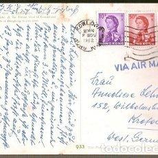 Sellos: HONG KONG & MARCOFILIA, VISTA DE LAS BAHÍAS, YAU MA TEI, MONG KOK, KOWLOON A ALEMANIA 1962 (933). Lote 146730554