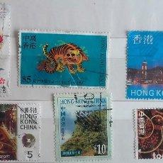 Sellos: HONG KONG, LOTE DE 6 SELLOS USADOS DIFERENTES . Lote 148512874