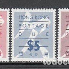 Sellos: HONG KONG - TASA YVERT 25A/9A ** MNH. Lote 153279392
