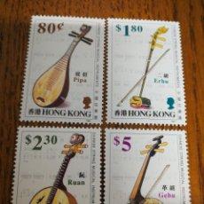 Sellos: HONG KONG :YV. 715/18 MNH, AÑO 1993 INSTRUMENTOS MUSICALES.. Lote 153695761