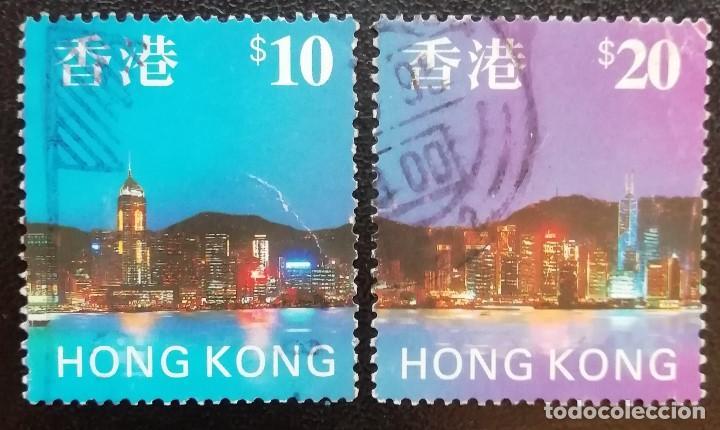 1992. TURISMO. HONG KONG. 831 / 833. HONG KONG DE NOCHE. SERIE DE INTERÉS. USADO. (Sellos - Extranjero - Asia - Hong Kong)
