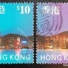Sellos: 1992. TURISMO. HONG KONG. 831 / 833. HONG KONG DE NOCHE. SERIE DE INTERÉS. USADO.. Lote 158708010