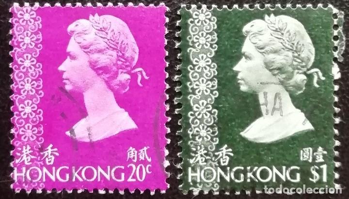 1973. HISTORIA. HONG KONG. 268, 274. REINA ISABEL II DE INGLATERRA. USADO. (Sellos - Extranjero - Asia - Hong Kong)