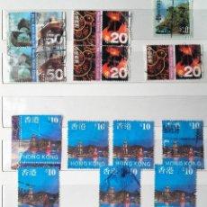Sellos: HONG KONG, 13 SELLOS USADOS. Lote 184237428