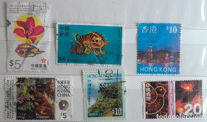 HONG KONG, LOTE DE 6 SELLOS USADOS DIFERENTES (Sellos - Extranjero - Asia - Hong Kong)