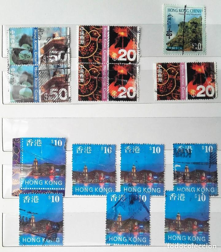 HONG KONG, 13 SELLOS USADOS (Sellos - Extranjero - Asia - Hong Kong)