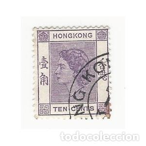 SELLO HONG KONG REINA ISABEL II 10 CENTS (Sellos - Extranjero - Asia - Hong Kong)
