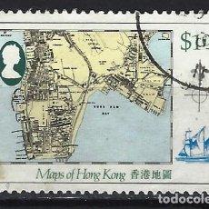 Sellos: HONG-KONG 1984 - MAPA DE HONG-KONG - SELLO USADO. Lote 210654936