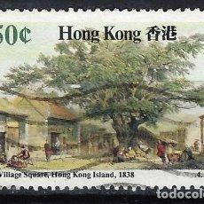 Sellos: HONG-KONG 1987 - ESCENAS DE HONG-KONG, PLAZA DEL PUEBLO - SELLO USADO. Lote 210655669