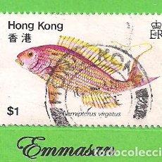 Sellos: HONG KONG - MICHEL 369 - YVERT 363 - PECES - DORADA DORADA. (1981).. Lote 217265743