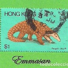 Sellos: HONG KONG - MICHEL 385 - FAUNA - PANGOLÍN CHINO. (1982).. Lote 217267736