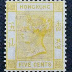Sellos: SELLO POSTAL DE HONG KONG 1882 VICTORIA, NUEVA MARCA DE AGUA. Lote 220125356