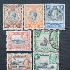 Sellos: SELLO POSTAL DE KENIA UGANDA Y TANGANIKA 1935 JORGE V Y PAISAJES. Lote 220168616