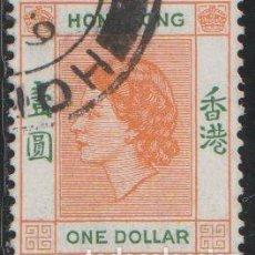 Sellos: HONG KONG CHINA 1954 SCOTT 194 SELLO º PERSONAJES QUEEN ELIZABETH II MICHEL 187 YVERT 185 STAMPS. Lote 220855426