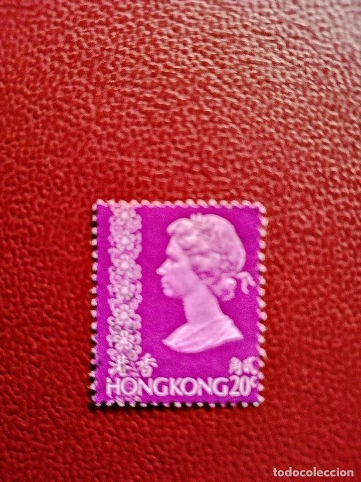 HONG KONG - VALOR FACIAL 20 C - AÑO 1973 - REINA ISABEL II (Sellos - Extranjero - Asia - Hong Kong)