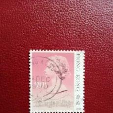 Sellos: HONG KONG - VALOR FACIAL 90 C - AÑO 1990 - REINA ISABEL II. Lote 221457490