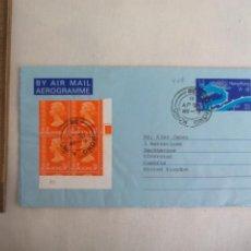 Sellos: HONG KONG. 1981.AEROGRAMME. . SOBRE CON 4 SELLOS. Lote 246256285