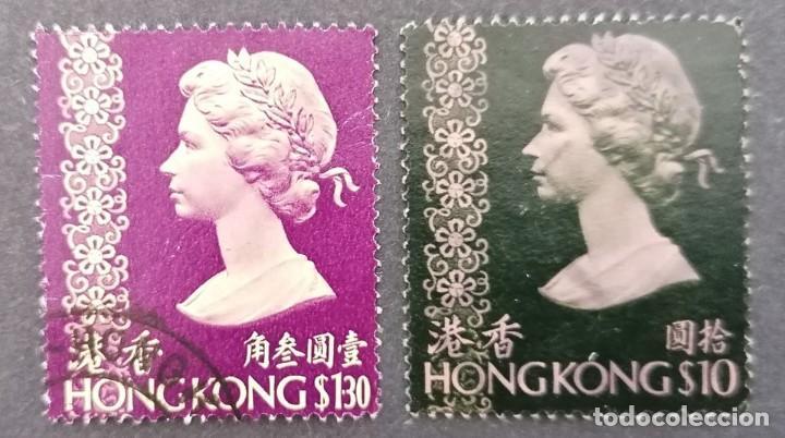 1973. HONG KONG. REINA ISABEL II. (1.30 $ /10 $ .) *,MH ( 21-224) (Sellos - Extranjero - Asia - Hong Kong)