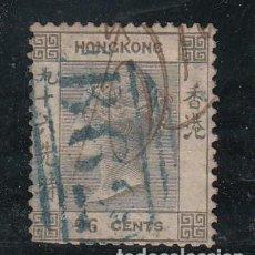 Sellos: HONG KONG COLONIA BRITÁNICA ..7 DIENTES CORTO USADA MATASELLO AZUL,. Lote 276777558