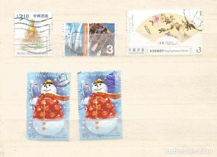 HONG KONG - LOTE 5 SELLOS USADOS (Sellos - Extranjero - Asia - Hong Kong)
