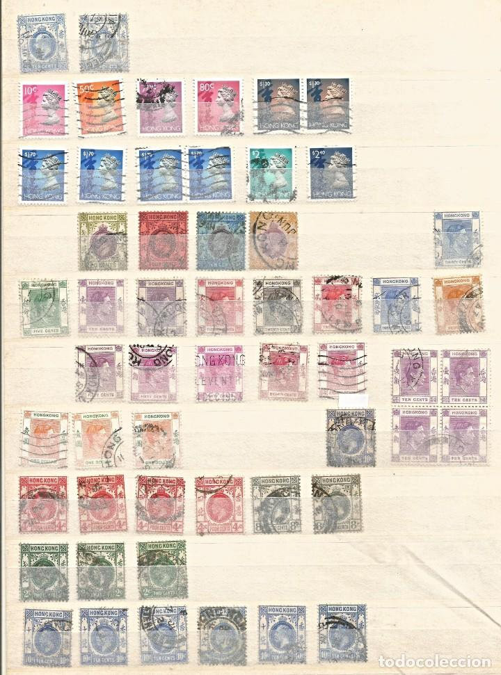 HONG KONG - LOTE 55 SELLOS - REINA ELIZABETH II / REY JORGE / REY EDUARDO - USADOS - DIVERSOS (Sellos - Extranjero - Asia - Hong Kong)