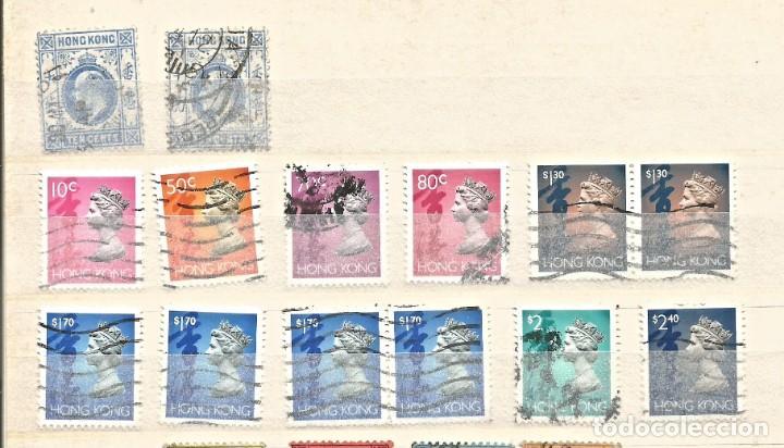 Sellos: HONG KONG - LOTE 55 SELLOS - REINA ELIZABETH II / REY JORGE / REY EDUARDO - USADOS - DIVERSOS - Foto 2 - 262306205