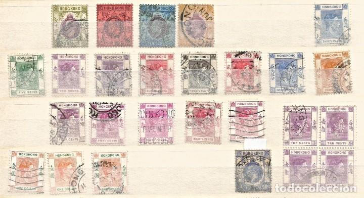 Sellos: HONG KONG - LOTE 55 SELLOS - REINA ELIZABETH II / REY JORGE / REY EDUARDO - USADOS - DIVERSOS - Foto 3 - 262306205