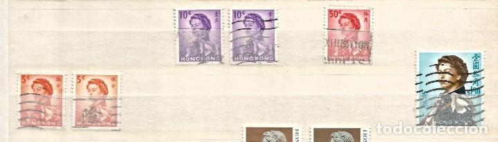 Sellos: HONG KONG - LOTE 38 SELLOS - REINA ELIZABETH II - USADOS - DIVERSOS - Foto 3 - 262307540
