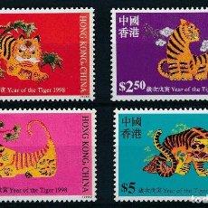 Sellos: HONG KONG 1998 IVERT 852/5 *** AÑO NUEVO CHINO - AÑO DEL TIGRE. Lote 263303335