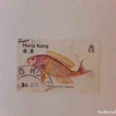 Francobolli: HONG KONG SELLO USADO PECES. Lote 267876769