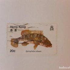 Francobolli: HONG KONG SELLO USADO PECES. Lote 267876799