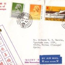 Sellos: CORREO AEREO: HONG KONG 1989. Lote 277048898