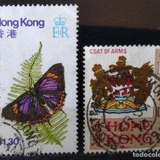 Francobolli: LOTE 2 SELLOS HONG KONG (MATASELLADOS). Lote 278417183