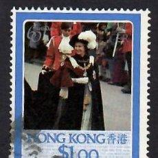 Selos: HONG KONG (1986). 60 ANIVERSARIO DE LA REINA ISABEL II. YVERT Nº 475. USADO.. Lote 293962393