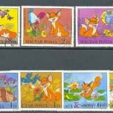 Sellos: HUNGRIA 1982 DIBUJOS ANIMADOS DE PANNONIA STUDIOS 7 SELLOS. Lote 4814922