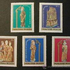 Sellos: HUNGRIA 1980 ARTE SEPULCRO DE PASCUAS 5 SELLOS. Lote 8026548